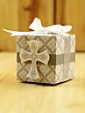 hârtie cub de hârtie carte favoriza cu panglici favoare cutii-50