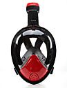 Snorkelmask Dykmasker Anti-Dimma Läckagesäker 180° Heltäckande ansiktsmasker Simmning Dykning Silikon