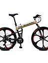 Mountainbikes Hopfällbar Cykel Cykelsport 21 Hastighet 26 tum/700CC Unisex Vuxen Shimano Skivbroms Suspension Fork Aluminiumram Anti-halk