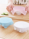 1st nya multifunktionella silikon saran wrap återanvändbara klamra lagrings film kylskåp mat täcka kök vakuum lock sealer slumpmässig färg
