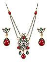 Seturi de bijuterii Vintage Bohemia Stil bijuterii de lux Pietre sintetice Reșină Ștras Placat Auriu Diamante Artificiale Aliaj Bijuterii