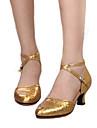 Pentru femei Pantofi Moderni Piele Călcâi Toc Personalizat Personalizabili Pantofi de dans Auriu / Argintiu / Rosu / Interior