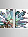 Modern/Contemporan Altele Ceas de perete,Dreptunghiular Canava35X50cm(14inchx20inch)x2pcs/ 40 x 60cm(16inchx24inch)x2pcs/ 50 x