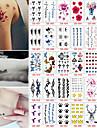 30 Tatouages Autocollants Autres Non ToxiqueBebe Enfant Homme Femme Adolescent Tatouage Temporaire Tatouages temporaires
