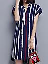 Pentru femei Stil Nautic Mărime Plus Size Tricou Muncă Dungi