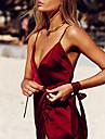 Feminin Ultra Sexy Uniforme & Cheongsams Pijamale,Mediu Nailon-Sexy Solid Roșu