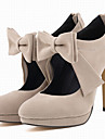 Pentru femei Pantofi Țesătură Primăvară Toamnă Tocuri Toc Stilat Vârf rotund Funde Fermoar pentru Nuntă Rochie Party & Seară Fucsia Rosu