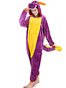 Adults\' Cosplay Costume Kigurumi Pajamas Dragon Onesie Pajamas Flannel Toison Purple Cosplay For Men and Women Animal Sleepwear Cartoon Festival / Holiday Costumes