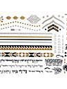 Tatueringsklistermärken - Mönster - Smyckeserier - till Dam/Girl/Vuxen/Tonåring - Guld - Papper - #(1) - styck #(23x15) - #(Arabic text)