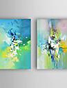 Pictat manual Abstract Orizontal,Modern Două Panouri Canava Hang-pictate pictură în ulei For Pagina de decorare