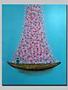 Pictat manual Floral/Botanic Vertical,Modern Realism Un Panou Canava Hang-pictate pictură în ulei For Pagina de decorare