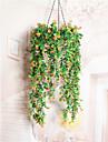 1 ramură uscată flori azalee perete flori artificiale proaspete stil