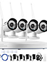annke® 4ch sistem CCTV wireless 4buc 960p NVR 1.3MP IR exterior p2p WiFi camera ip CCTV