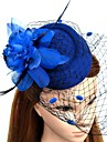 Feather Net Fascinators Flowers Hats Headwear Birdcage Veils Wreaths with Floral 1pc Wedding Special Occasion Headpiece