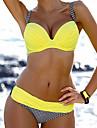 Pentru femei Bustieră Bikini Costume de Baie Solid Portocaliu Galben Rosu Roz