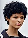 Syntetiska peruker Lockigt Densitet Utan lock Dam Svart Naturlig peruk Korta Syntetiskt hår