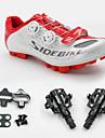 SIDEBIKE Homme Chaussures de Velo de Montagne / Chaussures de Cyclisme avec Pedale & Fixation Nylon Cyclisme / Velo Coussin PU de