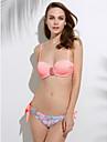 Femei Bikini Femei Cu Susținere Boho Push-up / Sutiene cu Bureți / Sutiene cu Întăritură Nailon / Spandex