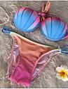 Pentru femei Dame Bumbac Push-up Cu Susținere,Bikini Monocolor Bloc Culoare