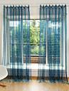 Deux Panneaux Le traitement de fenetre Fleur Chambre a coucher Polyester Materiel Rideaux opaques Decoration d\'interieur For Fenetre