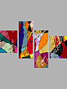 Oil Painting Hand Painted - Abstract Modern Canvas Four Panels