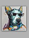 Pictat manual Abstract Animal Pătrat,Clasic Modern Un Panou Canava Hang-pictate pictură în ulei For Pagina de decorare