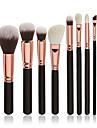 8pcs Pinceaux a maquillage Professionnel ensembles de brosses / Pinceau a Blush / Pinceau Fard a Paupieres Poil Synthetique Professionnel