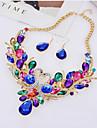 Dame Seturi de bijuterii de mireasă Mai multe pietre La modă Pietre sintetice Aliaj Animal Shape 1 Colier 1 Pereche de Cercei Pentru