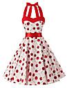 Pentru femei Vintage Bumbac Linie A Rochie Floral Halter Lungime Genunchi