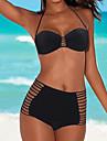 Dame Nailon Spandex Cu Susținere,Bikini Mulată Solid