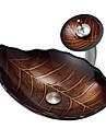 Antichizat Dreptunghiular Material chiuvetă este Sticlă securizată Chiuvetă Baie Baterie de baie Inel de Montare Baie Scurgere Baie