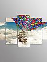 Stretchad Kanvastryck Landskap Moderna, Fem paneler Duk vilken form som helst Tryck väggdekor Hem-dekoration