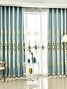 Deux Panneaux Le traitement de fenetre Europeen , Fleur Chambre a coucher Polyester Materiel Rideaux Tentures Decoration d\'interieur For