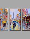 Dipinta a mano Paesaggi Orizzontale, Stile europeo Modern Tela Hang-Dipinto ad olio Decorazioni per la casa Tre Pannelli