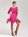 Latein-Tanz Kleider Damen Leistung Elasthan 3/4 AErmel Normal Kleid