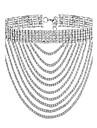 Pentru femei Coliere Choker - Placat Auriu, Diamante Artificiale Modă Auriu, Argintiu Coliere Pentru Petrecere, Ocazie specială, Cadou