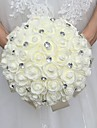 """Flori de Nuntă Rotund Trandafiri Buchete Nuntă Spumă Ștras 11.8""""(Approx.30cm)"""