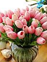 10 ramură Real atingere Lalele Față de masă flori Flori artificiale