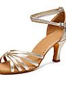 Kadın\'s Saten Latin Dans Ayakkabıları Toka Topuklular Kişiye Özel Kişiselleştirilmiş Açık-gri / Kırmzı / Mavi / Performans