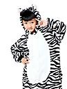 Kigurumi-pyjamas Mellan Onesie-pyjamas Kostym Flanell Svart/Vit Cosplay För Pyjamas med djur Tecknad serie halloween Festival / högtid
