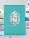 Pearl Paper Classic ThemeWithSided Hollow Out Ruched Guest Book