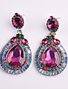 Pentru femei Cercei Picătură Cristal Geometric Floral costum de bijuterii Cristal Aliaj Geometric Shape Bijuterii Pentru Petrecere Zilnic