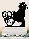 Vârfuri de Tort Cuplu Clasic Nuntă Petrecere Ocazie specială Zi de Naștere Petrecere / SearăTemă Plajă Temă Grădină Temă Flurure Temă