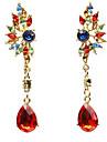 Pentru femei Cercei Picătură La modă costum de bijuterii Teracotă Reșină Aliaj Geometric Shape Bijuterii Pentru Zi de Naștere Zilnic