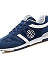 Erkek Ayakkabı PU Bahar / Sonbahar Rahat Atletik Ayakkabılar Koşu Dış mekan için Bağcıklı Siyah / Koyu Mavi / Gri