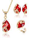 Pentru femei Zirconiu Cubic Set bijuterii - Zirconiu Cubic Inimă Modă, Euramerican Include Seturi de bijuterii de mireasă Rosu / Verde / Albastru Pentru Cadouri de Crăciun Nuntă Petrecere Ocazie
