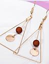 Pentru femei Cercei Picătură stil minimalist costum de bijuterii Aliaj Triangle Shape Bijuterii Pentru Zilnic