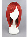 Perruque Synthetique Droit Rouge Femme Sans bonnet Perruque de carnaval Perruque Halloween Perruque de Cosplay Court Cheveux Synthetiques