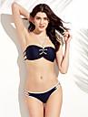 Femei Bikini Femei Cu Susținere Dantelat Nailon Polyester