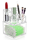Plast Oval Resan Hem Organisation, 1st Skrivbordsorganiserare Makeupförvaring Smyckesboxar Smyckesförvaring Garderobsorganisatör
